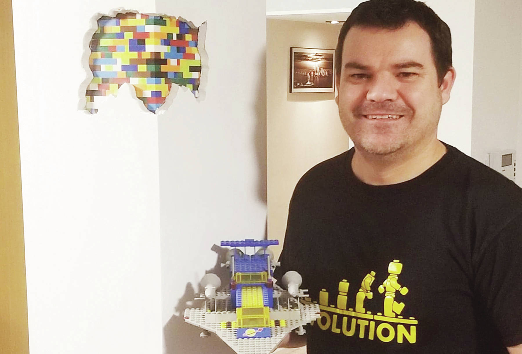 Neal Dangerfield got the idea for his Lego post — which has about 1,000 bricks — from a YouTube video.